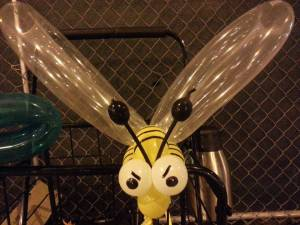 Bee made from balloons