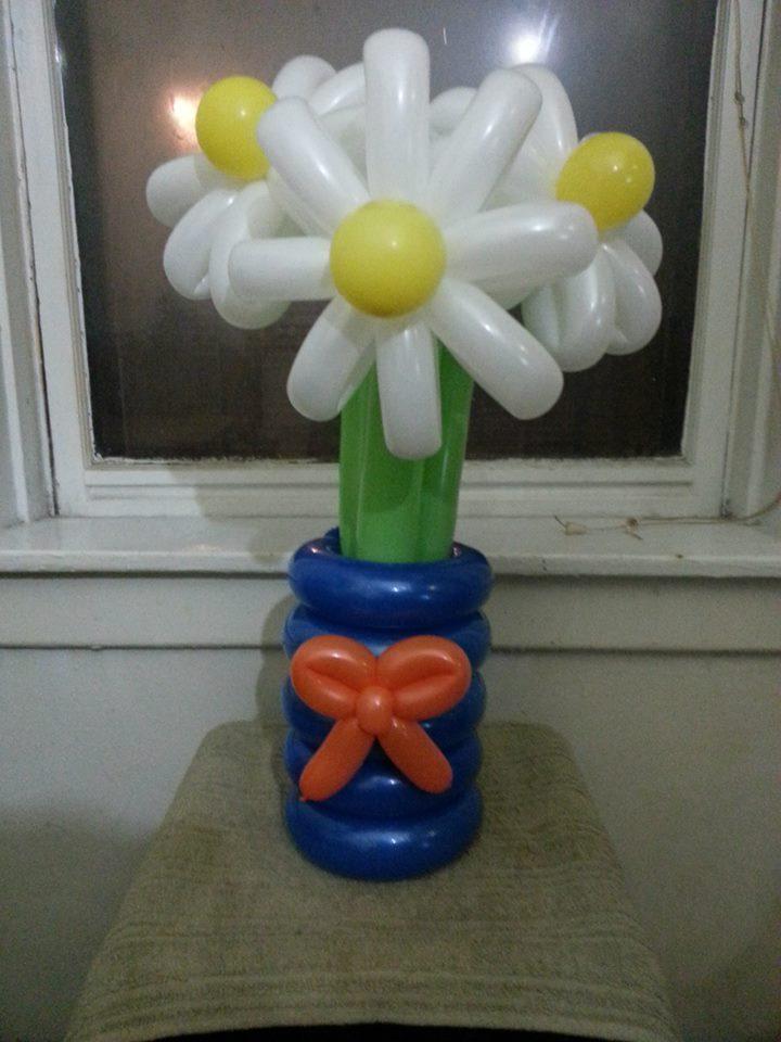 Balloon Daisies In A Vase