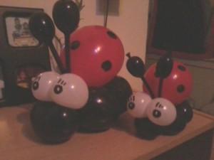 ladybug balloon animals