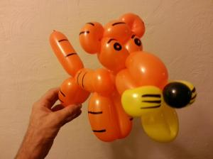 Tiger balloon animal