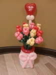 Balloon dozen rose bouquet