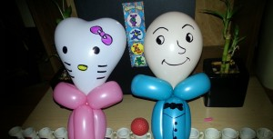 Balloon Hello Kitty and Humpty Dumpty
