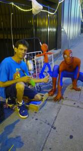 Magic Mike, balloon Spiderman, and SPIDERMAN!