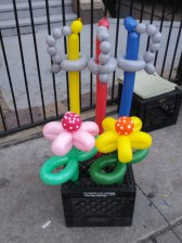 Balloon Swords and Flowers